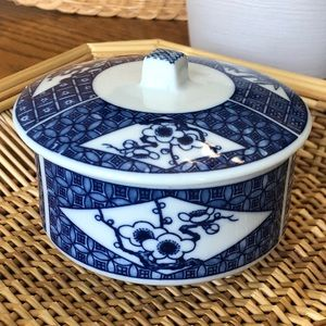 Blue & White Japanese Dish with Lid 😍